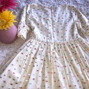 Girls Pretty Cream Dress